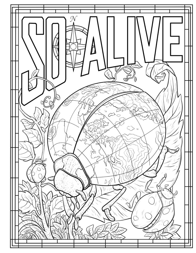 Crayola - So ALive -coloring book (finishes in vector)