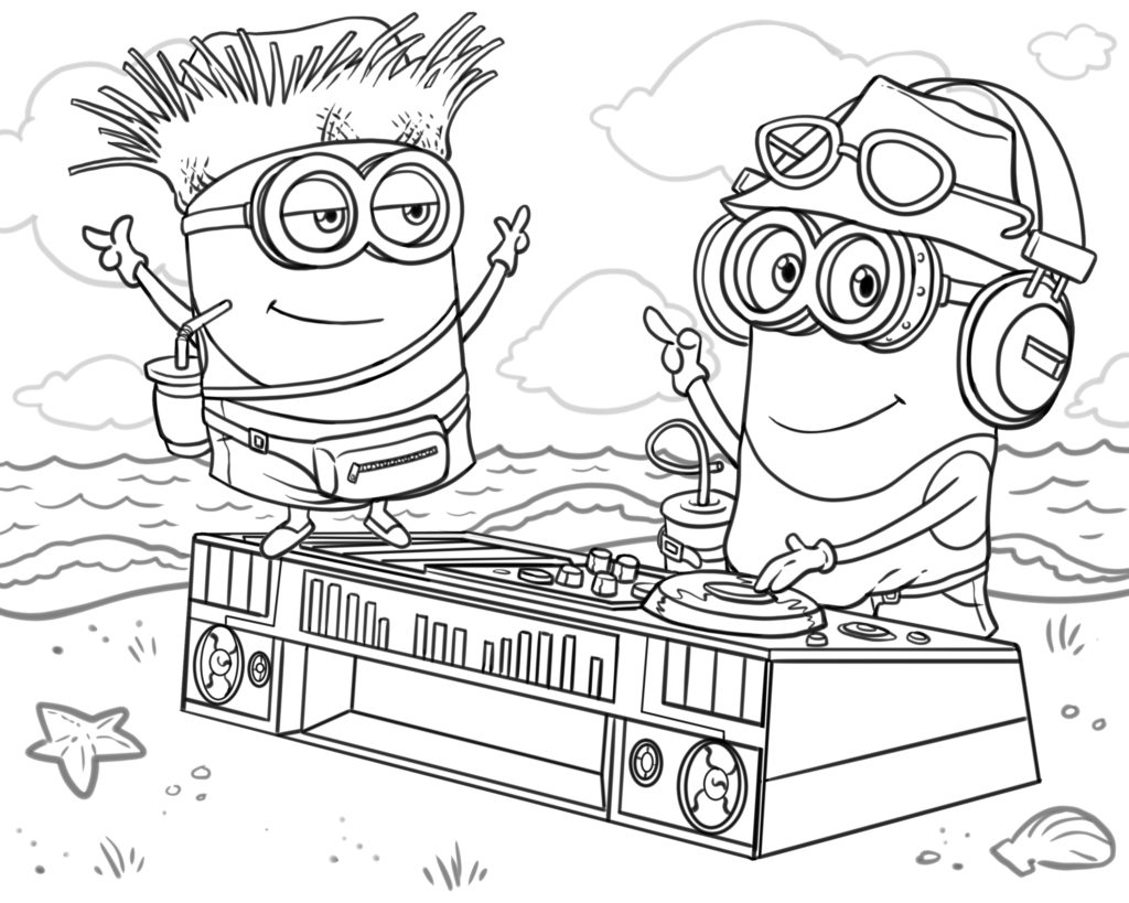 Minions coloring book cover
